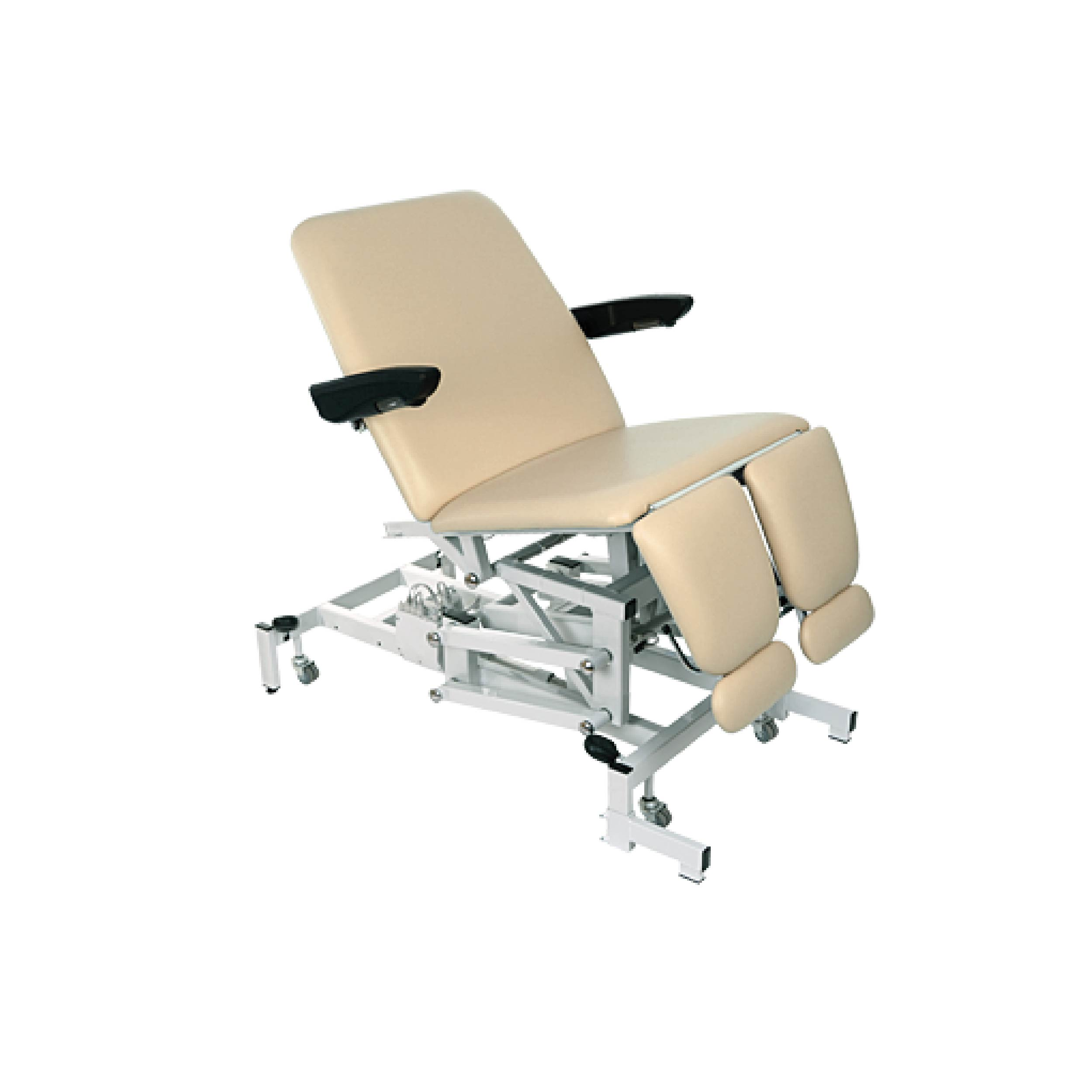 Bariatric podiatry chair with split legs (electric with tilt & motor back)